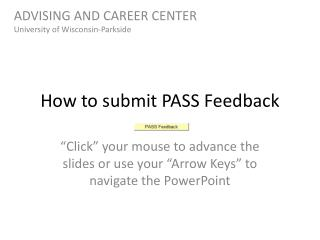 How to submit PASS Feedback