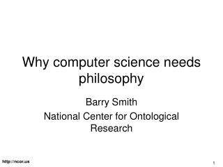 Why computer science needs philosophy