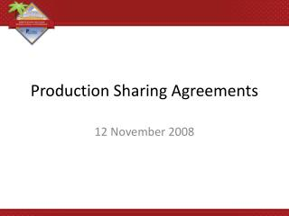 Production Sharing Agreements