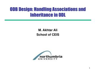 ODB Design: Handling Associations and Inheritance in ODL