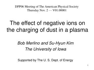 The effect of negative ions on the charging of dust in a plasma