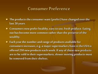 Consumer Preference