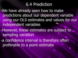 6.4 Prediction