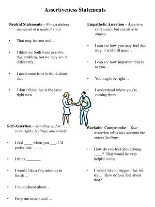 Assertiveness Statements
