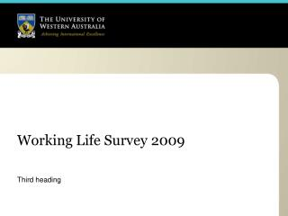 Working Life Survey 2009