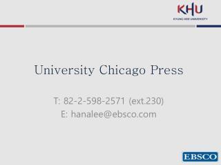University Chicago Press