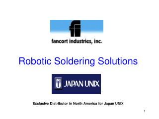 Robotic Soldering Solutions