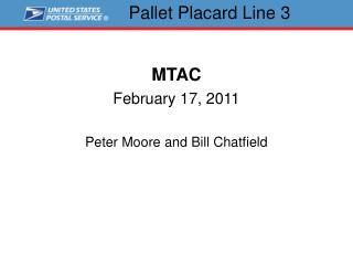 Pallet Placard Line 3
