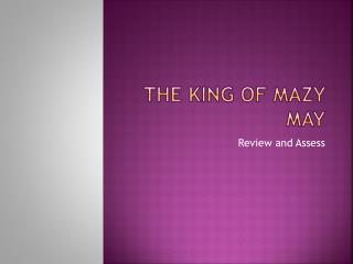 the king of mazy may the klondike Ebscohost serves thousands of libraries with premium essays, articles and other content including the king of mazy may get access to over 12 million other articles.