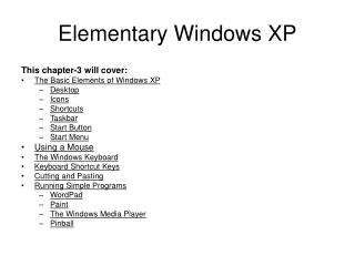 Elementary Windows XP