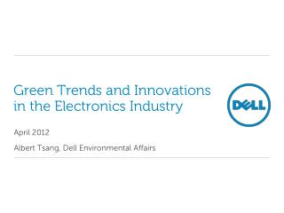 Green Trends and Innovations in the Electronics Industry