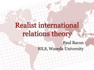 Realist international relations theory