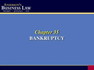 Chapter 35 BANKRUPTCY