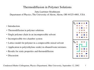 Thermodiffusion in Polymer Solutions