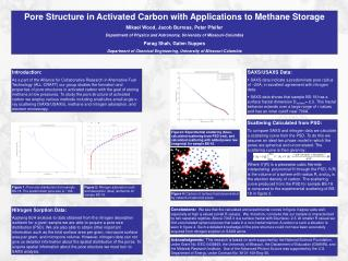 Pore Structure in Activated Carbon with Applications to Methane Storage