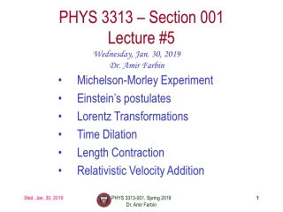 Relativity 26-2 The Michelson-Morley experiment