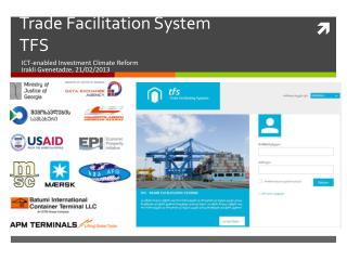 Trade Facilitation System  TFS