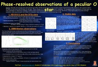 Phase-resolved observations of a peculiar O star
