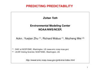 PREDICTING PREDICTABILITY