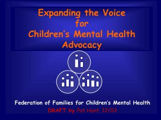 Expanding the Voice for Children�s Mental Health Advocacy