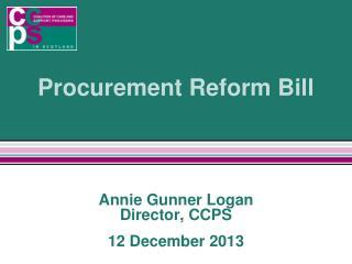 Procurement Reform Bill