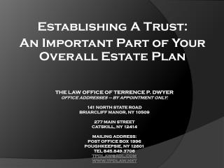 Establishing A Trust: An Important Part of Your Overall Estate Plan