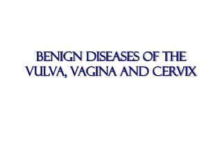 Benign diseases of the vulva, vagina and cervix