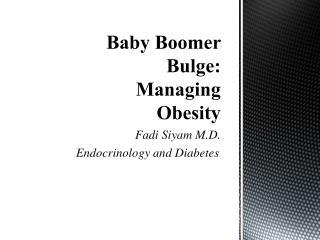 Baby Boomer Bulge: Managing Obesity