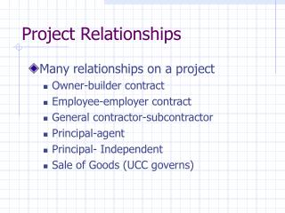 Project Relationships