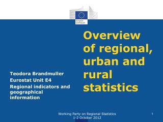 Overview of regional, urban and rural statistics