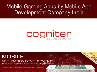 Mobile Gaming Apps by Mobile App Development Company India
