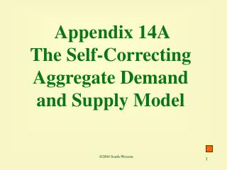 Appendix 14A The Self-Correcting Aggregate Demand and Supply Model