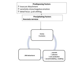 Predisposing  Factors ↑ Insecure Attachment ↑ sensitivity stress/negative emotion
