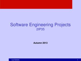 Software Engineering Projects 2IP35