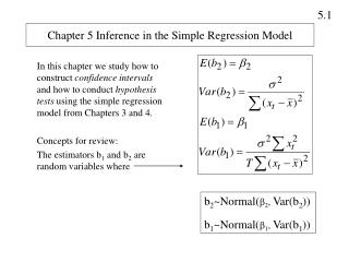 Chapter 5 Inference in the Simple Regression Model