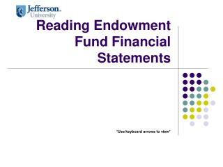Reading Endowment Fund Financial Statements