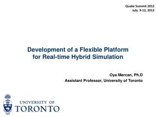 Development of a Flexible Platform for Real-time Hybrid Simulation