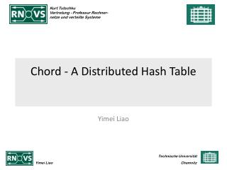 Chord - A Distributed Hash Table