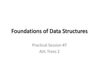 Foundations of Data Structures
