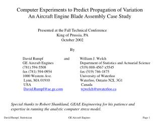 Presented at the Fall Technical Conference King of Prussia, PA October 2002 By