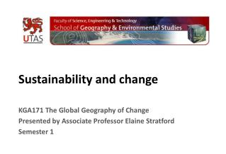 Sustainability and change