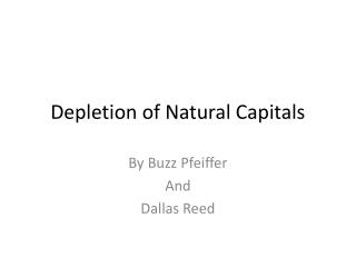 Depletion of Natural Capitals