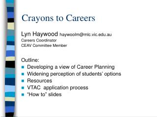 Crayons to Careers