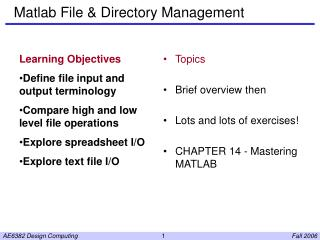 Matlab File & Directory Management