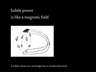 Subtle power  is like a magnetic field