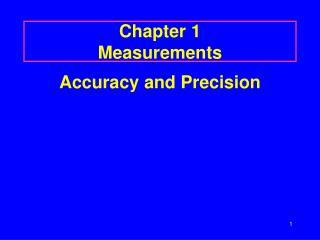 Chapter 1 Measurements