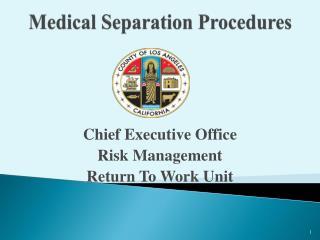 Medical Separation Procedures