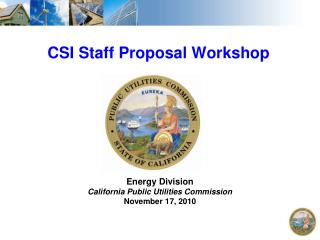 CSI Staff Proposal Workshop
