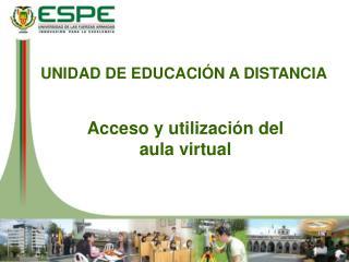 UNIDAD DE EDUCACIÓN A DISTANCIA