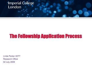 The Fellowship Application Process